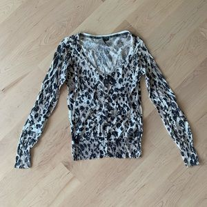 Guess leopard black and white cardigan